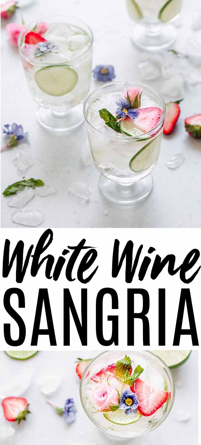 White Sangria with Strawberries & Elderflower – Cocktail Recipes