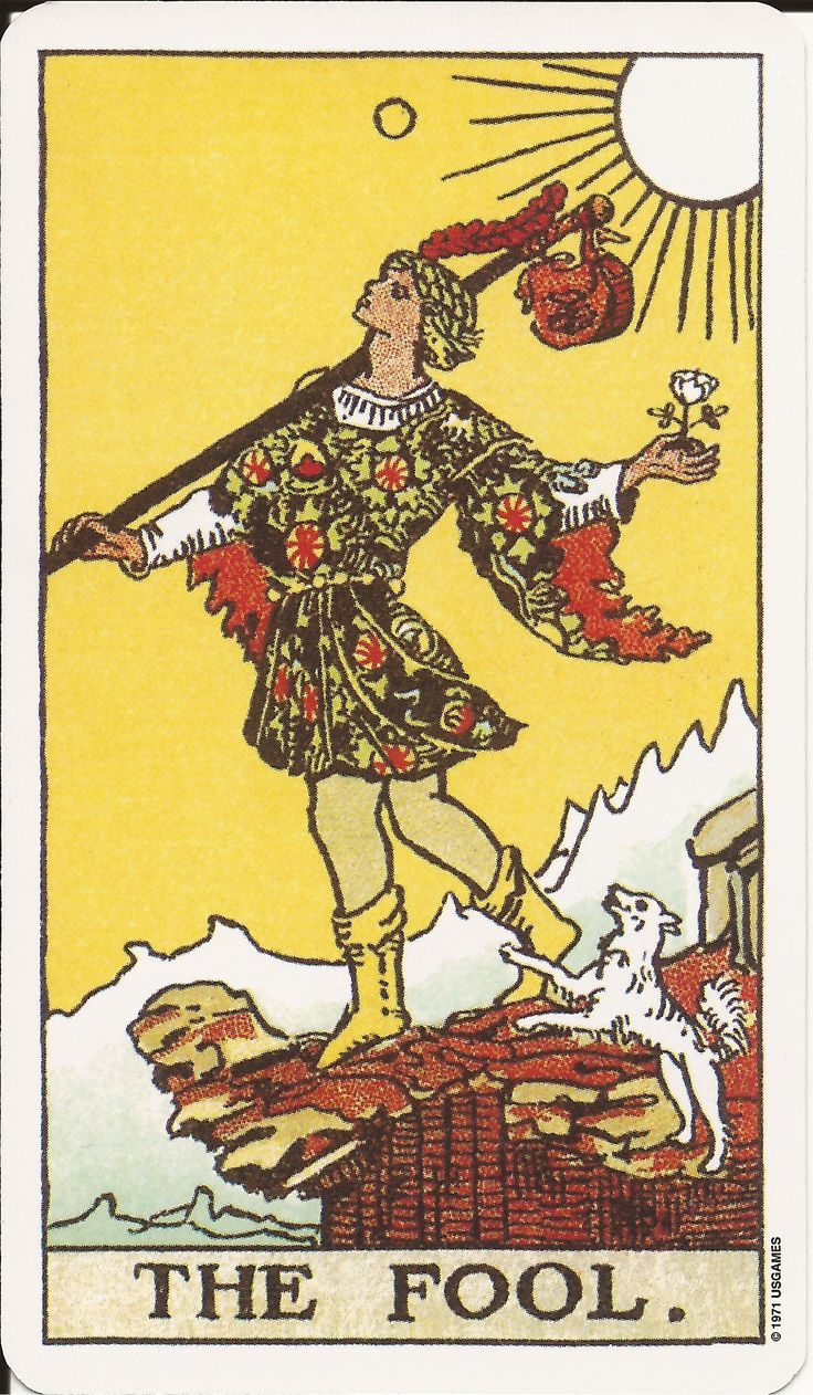 Fool From The Universal Waite Tarot: 1910 Carta Clássica