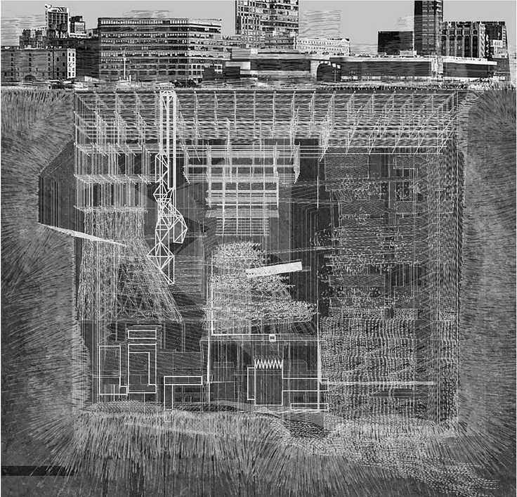 Drawings from Underground City by Xinyang Chen