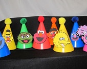 Cookie Monster Sesame Street Party Hats 10 count. $25.00, via Etsy.