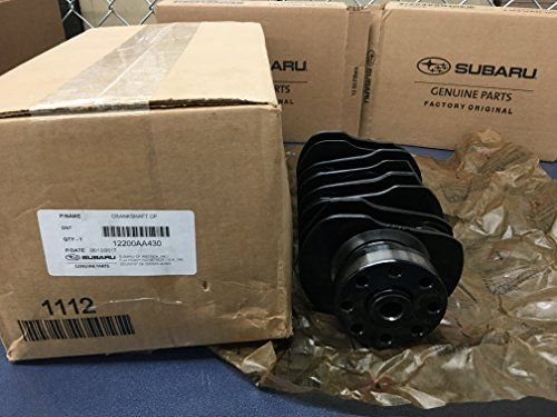 2009-2018 Subaru WRX STi Nitride Treated Hardened Crankshaft EJ257 2.5L 12200AA430 OEM GENUINE  Genuine OEM subaru Crankshaft 12200AA430  The dark finish is due to the temp and duration of processing for a deeper hardness. Rebuild your motor using Subaru's finest.  Have been told can be used in any EJ25 2.5 as a direct replacement. Direct Fit For All EJ257 & EJ255 Engines  Through nitriding , surface hardness is doubled on the Rockwell scale, and fatigue life is increased by 25 percent...