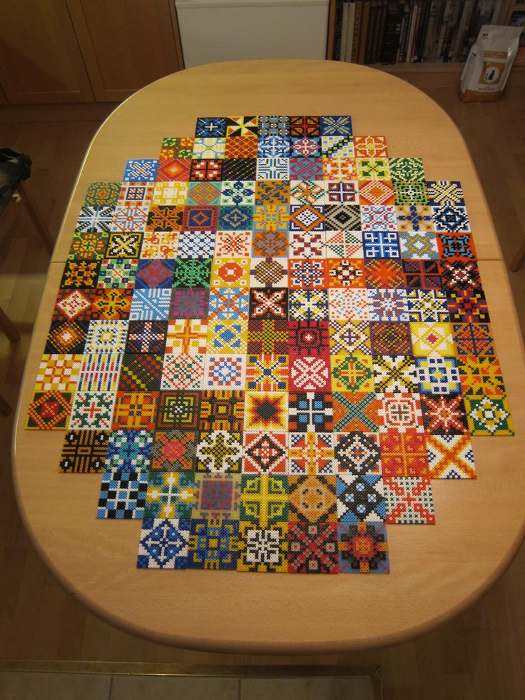 Hama perler bead tiles made by Villi.Ingi