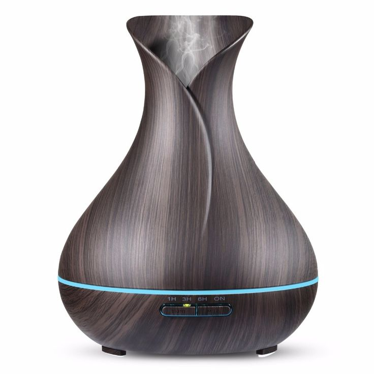 Aroma Essential Oil Diffuser Ultrasonic Air Humidifier Aromatherapy 400mL Cool Mist Maker Diffuser Wood Grain 7 Color LED Lights