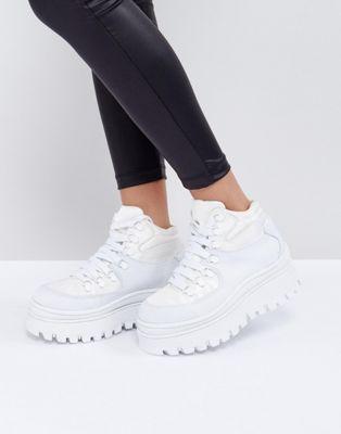 Jeffrey Campbell – Toppeak – Plateau-Sneaker in Weiß
