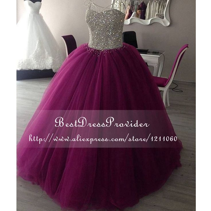 Long Prom Dress,Puffy Prom Dress,Long Puffy Prom Dress,Sparkly Prom Dress,Prom Dresses 2017 ,Beaded Prom Dress,Purple Prom Dress