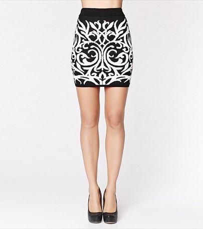 Damask Jacquard Mini Skirt - $34.90