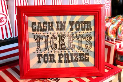 free carnival printable signs for party...lots of printables on the site!!