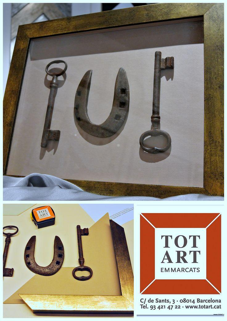 Enmarcamos llaves y herraduras par decorar tu hogar ideas for Ideas originales para decorar