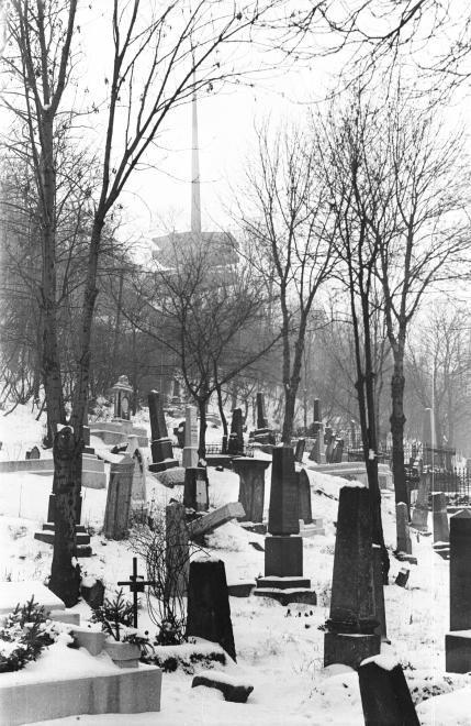 avasi református temető, háttérben a kilátó.