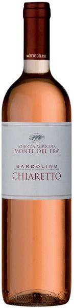 Bardolino Chiaretto D.o.c. Monte del Frà. http://www.montedelfra.it/it/prodotti/vini_rossi/bardolino_chiaretto