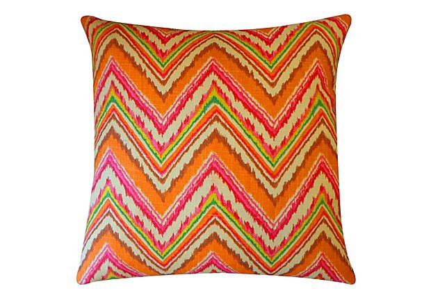 20x20 Cotton Pillow, Orange on OneKingsLane.com