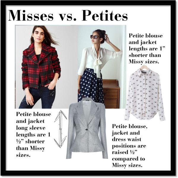 """Misses vs. Petite blouses and blazers"" by kathrinkim on Polyvore"
