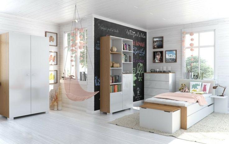 Jugendzimmer weiß gestalten   Mit diesen Ideen wird der Raum perfekt   Interior design, Home ...