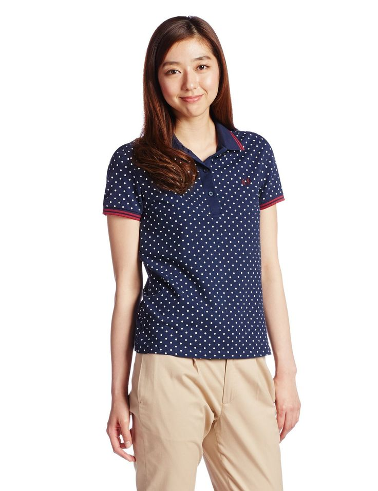 Amazon.co.jp: (フレッドペリー)Fred Perry Polka Dot Twin Tipped Shirt G4705 395 395DARK CARBO 10: 服&ファッション小物通販