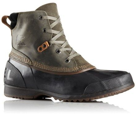 Sorel Men's Ankeny Waterproof Boots Alpine Tundra/Black 13