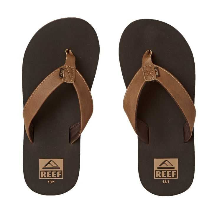 Boy's Reef Flip Flops - Reef Grom Twinpin Brown Flip Flops - Brown