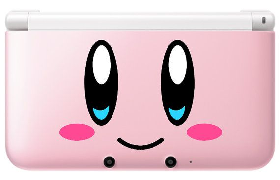 Kirby face Decal set for PinK 3ds or 3ds xl par GameThemedThings, $8.00 I NEED IT