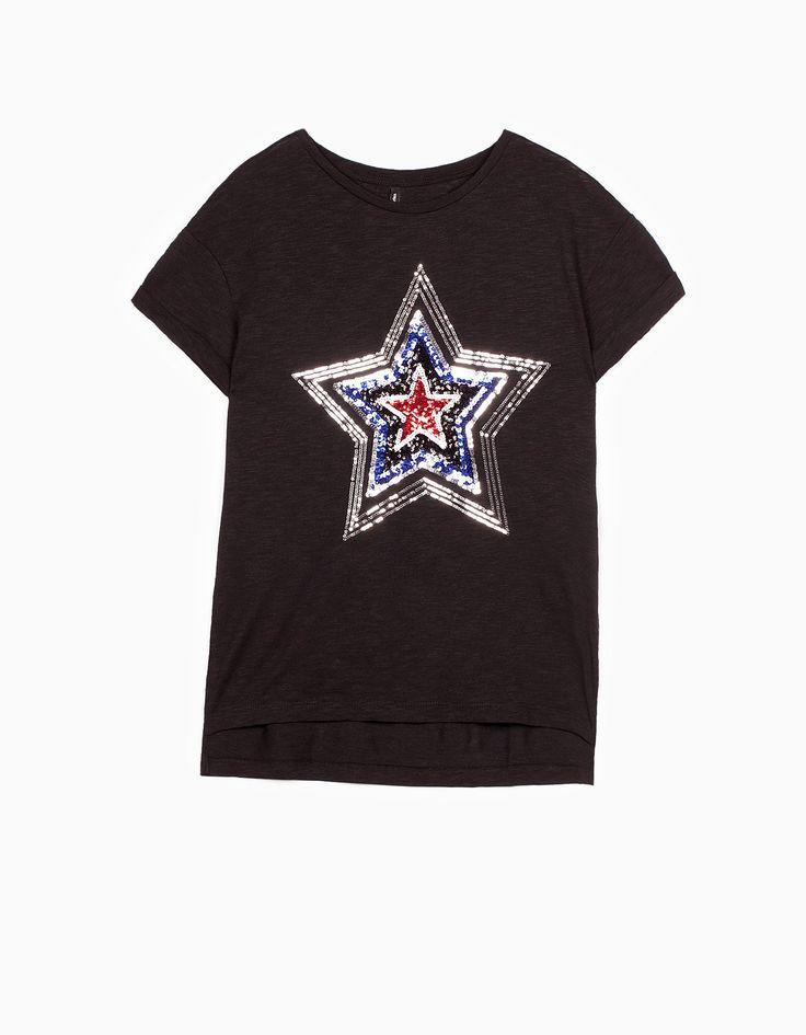 Stradivarius Colombia Camiseta lentejuelas - STAY - MUJER | #MomentoExtraordinario