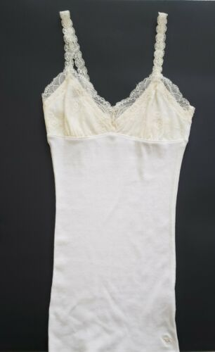 dffa18ba82db2 Details about Abercrombie   Fitch Small Top Ivory Deep V Neck With ...