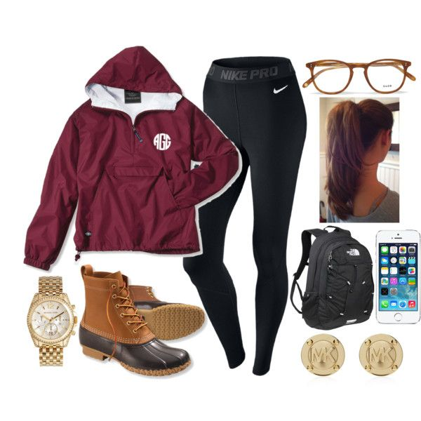 ☯ because the aggies won ☯ by stylesbowtie on Polyvore featuring NIKE, The North Face, Michael Kors and Garrett Leight