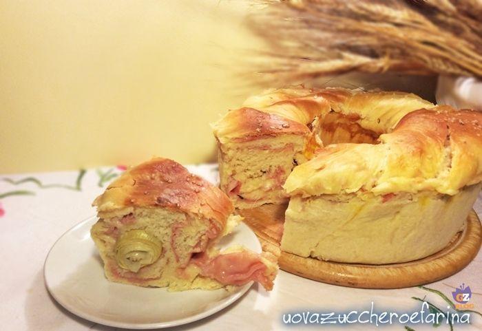 La corona di pan brioche farcita