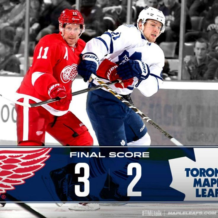 Leafs lose 3-2 to Red Wings in Detroit