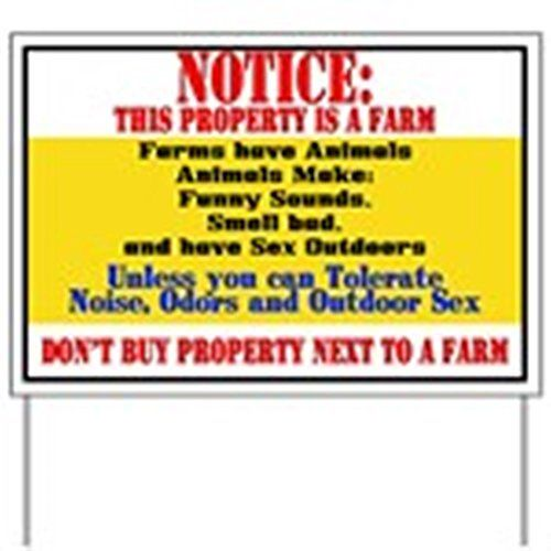 http://picxania.com/wp-content/uploads/2017/09/cafepress-farm-notice-yard-sign-yard-sign-vinyl-lawn-sign-political-election-sign.jpg - http://picxania.com/cafepress-farm-notice-yard-sign-yard-sign-vinyl-lawn-sign-political-election-sign/ - CafePress - Farm Notice Yard Sign - Yard Sign, Vinyl Lawn Sign, Political Election Sign -   Price:    When you have something important to say, showcase it on a yard sign for all to see. Support a candidate, promote a yard sale, play up a p