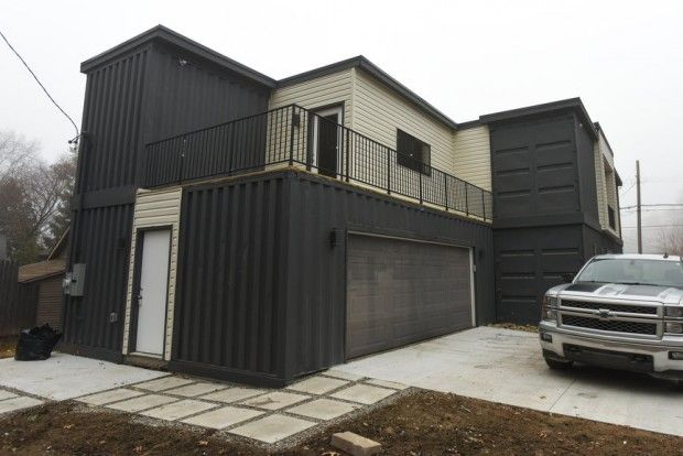 See inside finished shipping container home in southeast michigan royal oak shipping - Container homes houston ...