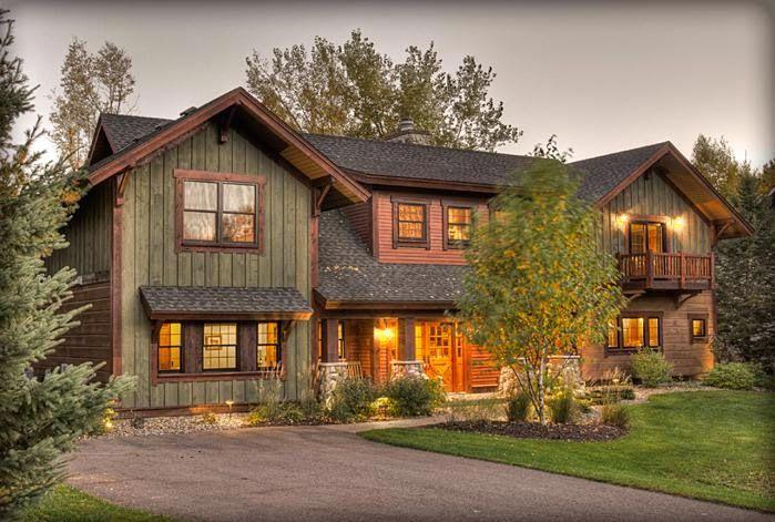 Интерьер деревянного дома в картинках. | Внешний вид дома ...