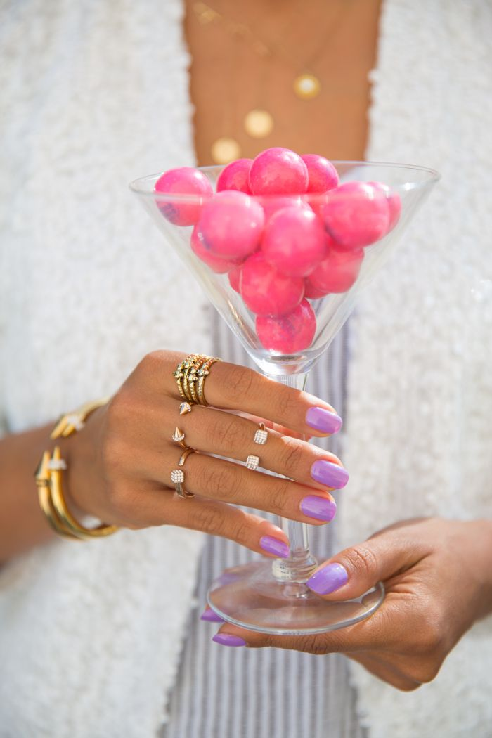 lavender: Nails Colour, Lavender Nails, Spring Nails, Fashion Blog, Rings, Fashion Style Outfit, Accessories, Parties Colour, Fashion Ads