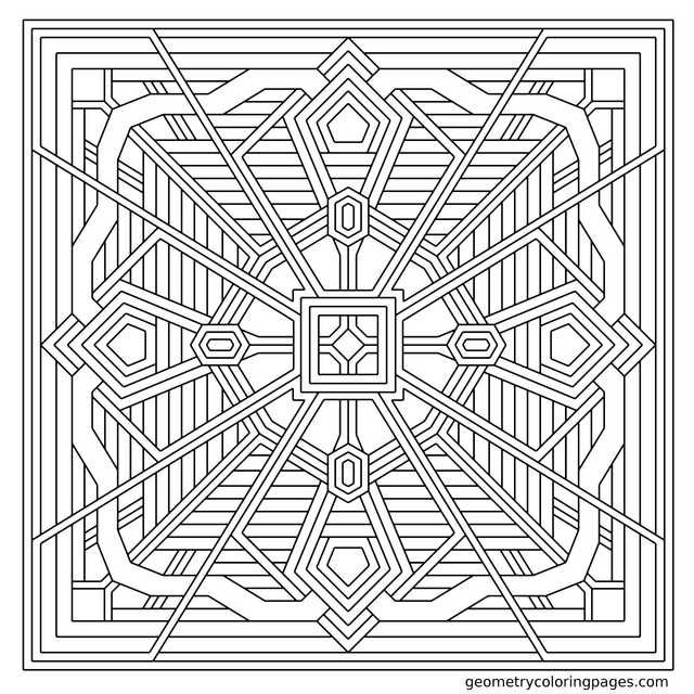 Geometry Coloring Pages All Age Coloring Pages Geometric Coloring Pages Pattern Coloring Pages Coloring Books