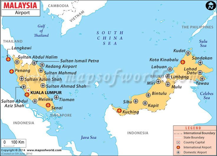 Airports In Malaysia Malaysia Airports Map Airport Map Map Country Maps