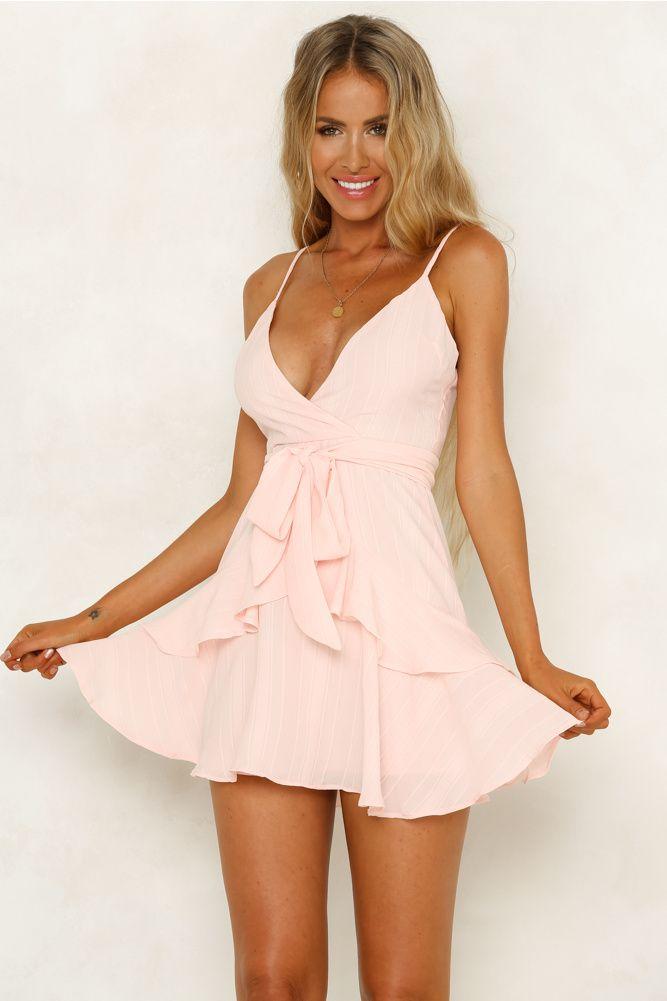 9125c398b09c95 Scars To Your Beautiful Dress Baby Pink Pasen Jurk