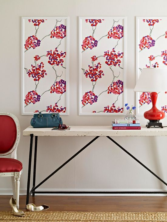 Decorating with wallpaper.     http://www.bhg.com/decorating/do-it-yourself/fabric-paper-projects/wallpaper-projects/