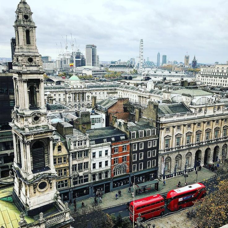 From the top of Bush House #London #BushHouse #cities #city #skyline #bus