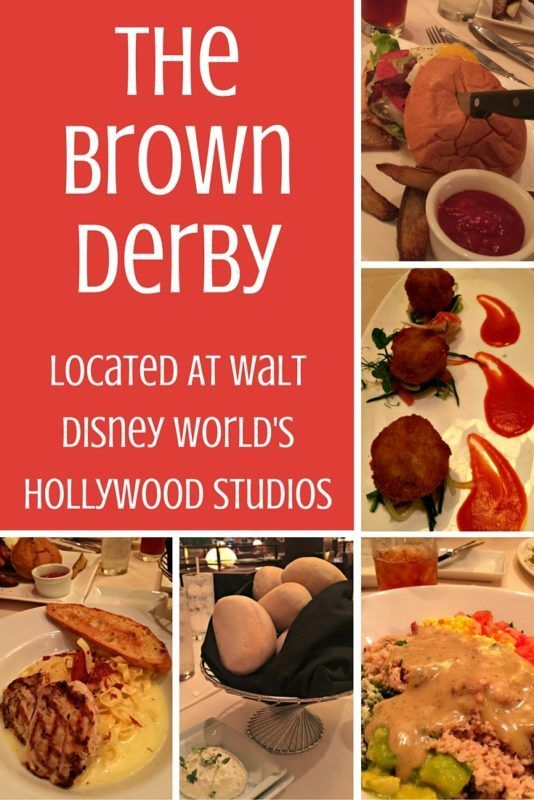 The Hollywood Brown Derby at Hollywood Studios (Walt Disney World theme parks) is a take on the Hollywood classic eatery where celebrities frequented and the Cobb Salad was born.