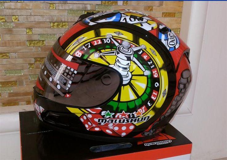 [Visit to Buy] Brand malushun motorcycle helmet Jorge Lorenzo full face helmet motoGP racing helmet moto casco motociclistas capacete DOT #Advertisement