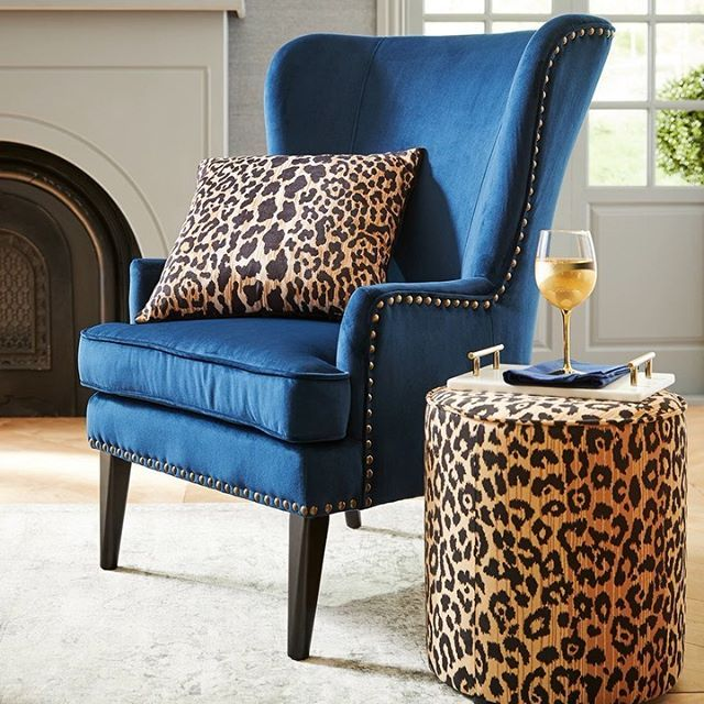 This Double Dose Of Leopard Print Puts The Fun In Sunday Funday Pier1love Sundayfunday Armchair Accent Chairs For Living Room Chair Printed Chair #printed #chairs #living #room