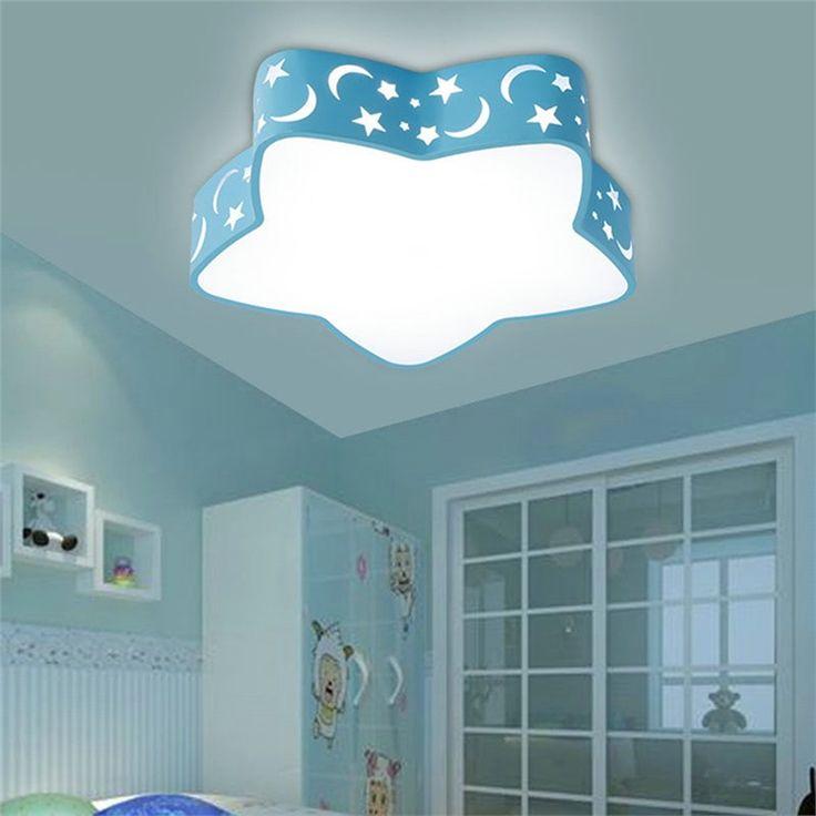 LEDシーリングライト 照明器具 リビング照明 子供屋照明 天井照明 おしゃれ照明  星形 赤青 LED対応