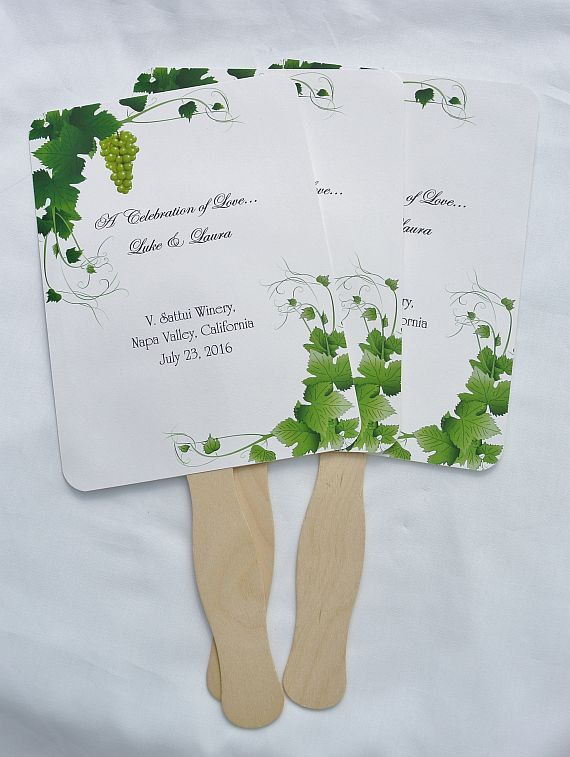 Wedding Wine,  Wedding Wine Favors, Wine Country Wedding, Outdoor Wedding, Summer Wedding, Wedding Fans,   by abbey and izzie designs on Etsy