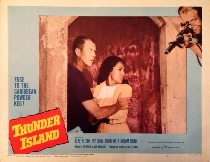 Vintage 1963 Puerto Rico Thunder Island movie by IslaDelEncanto