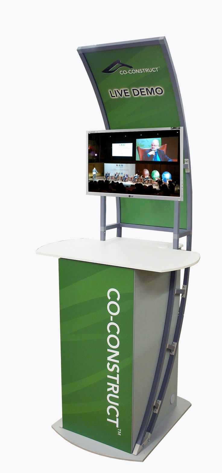 Trade Show Booth Kiosks : Portable trade show kiosk by godfrey group
