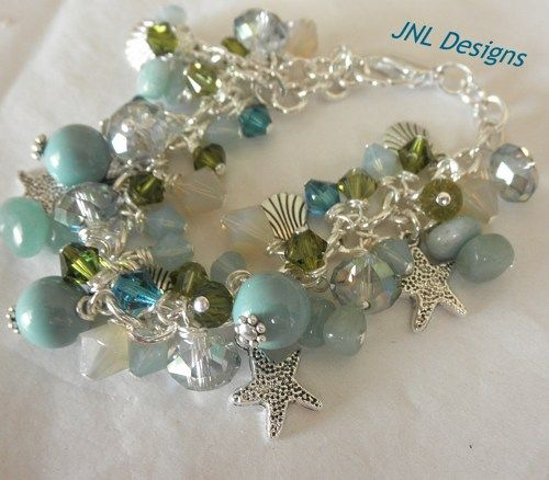Ocean Colors Adjustable Charm Bracelet | jnldesigns - Jewelry on ArtFire