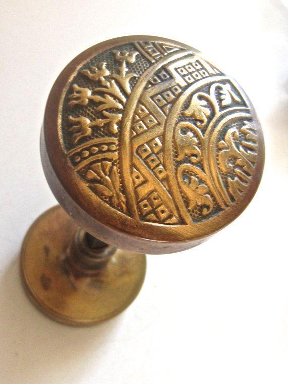 45 old door knob set eastlake design diy antique hardware