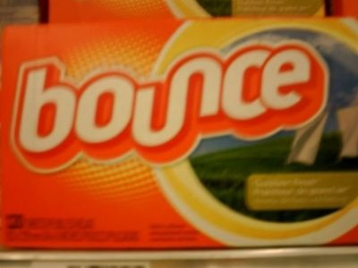 * Wipe your television screen down with a bounce sheet and it will help eliminate static cling.   * Put a bounce sheet in your vacuum cleaner   * When you wash your car use a bounce sheet it wipes off most insects   * Put one in your car for an air freshner
