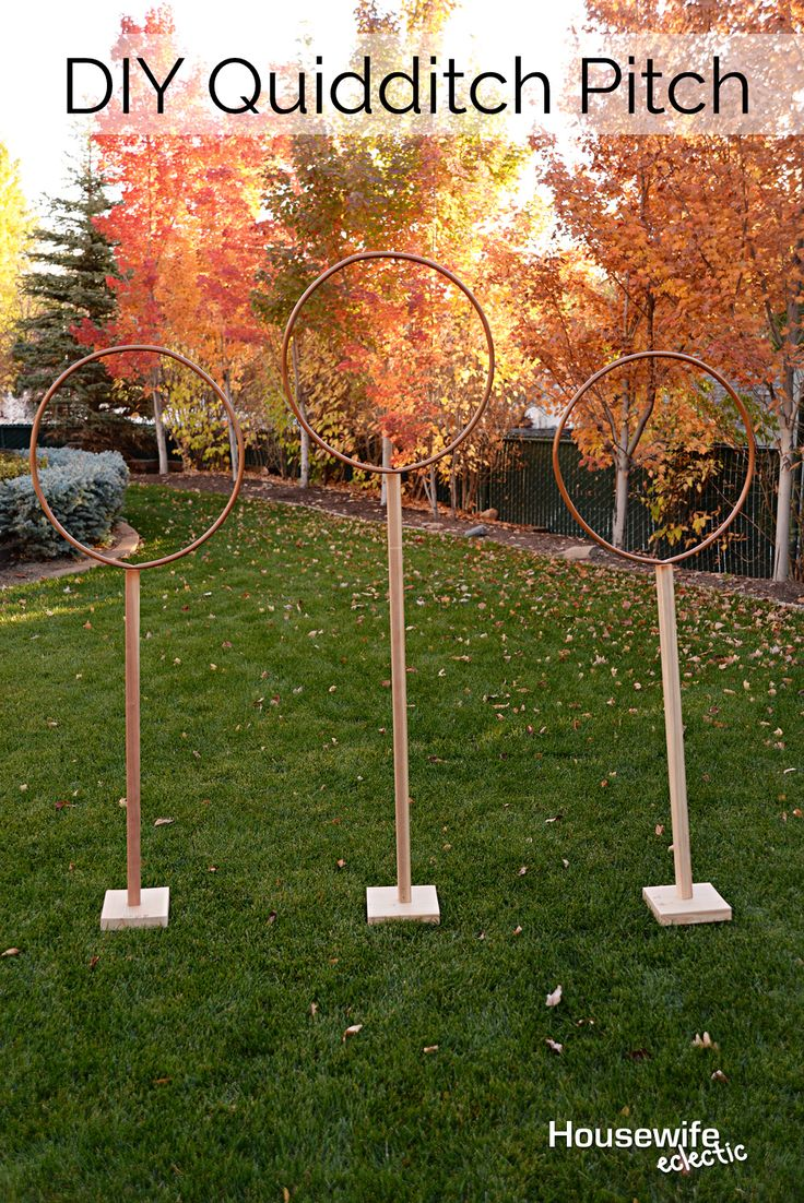 Housewife Eclectic: DIY Quidditch Pitch. How to play Muggle Quidditch!