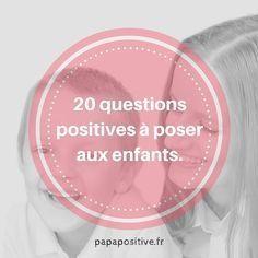 Voici des questions qui contribuent à l'épanouissement des enfants. Elles les aideront à apprendre à réfléchir, gérer leurs émotions, comprendre les autres, imaginer, développer leur empathie, faire preuve d'optimisme, s'ancrer dans le moment présent, être plus autonome et responsable, s'exprimer et renforcer leur confiance en eux. Ecoutez les réponses sans juger et facilitez la verbalisation des …