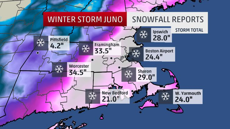 Snow and wind reports from Winter Storm Juno in late January 2015.