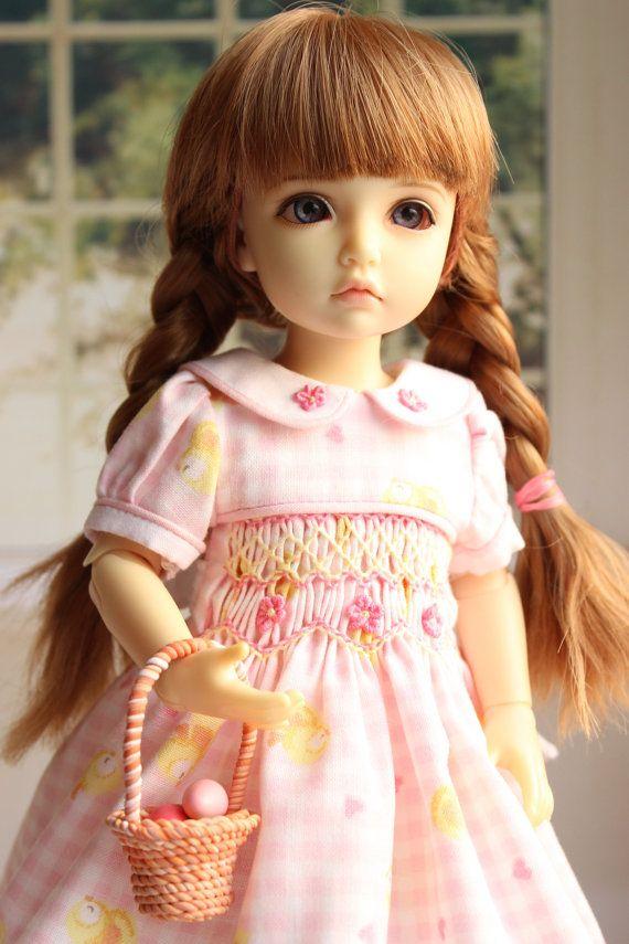 Smocked DRESS for doll iplehouse BID 26 cm. от AlenaTailorForDoll