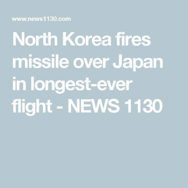 North Korea fires missile over Japan in longest-ever flight - NEWS 1130
